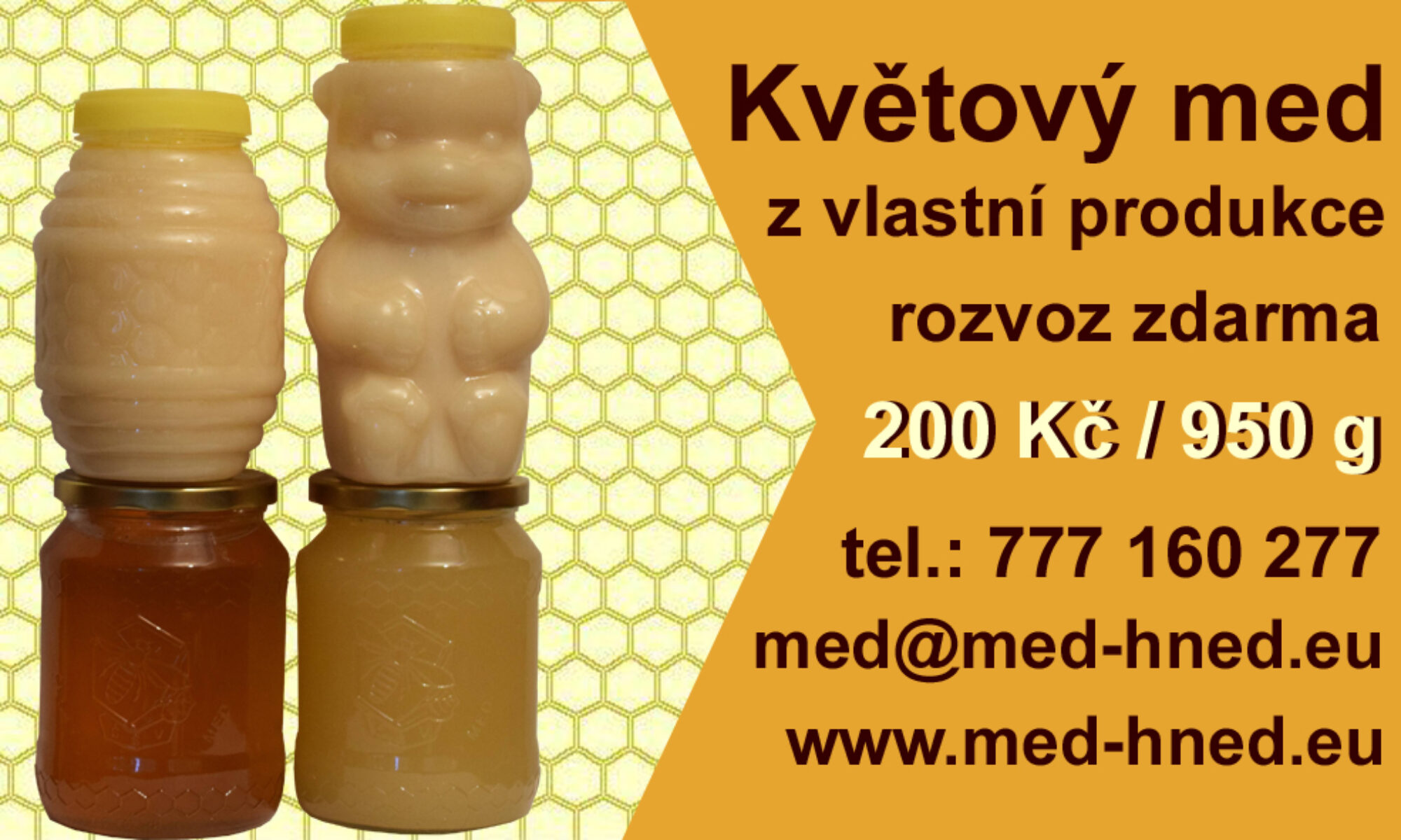 med-hned.eu - prodej medu přímo od včelaře ze dvora.